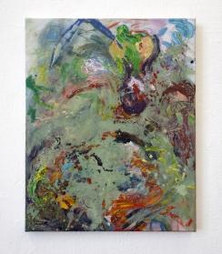 2021, Oil, Glue Colour, Pigments and Oil Chalk on Cotton, 75 x 60 cm
