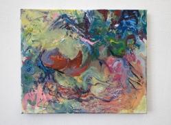 2021, Oil, Oil Chalk, Glue Colour and Pigments on Cotton, 65 x 80 cm